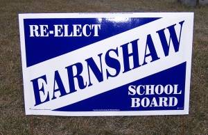 Alan Earnshaw's campaign sign